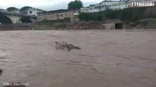 Río Choluteca mantiene su caudal alto por las lluvias