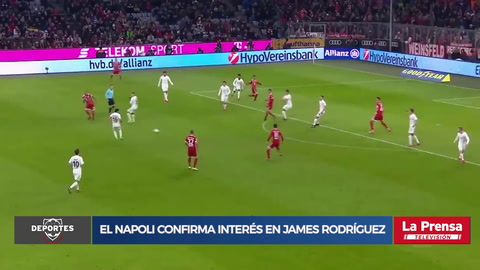 El Napoli confirma interés en James Rodríguez