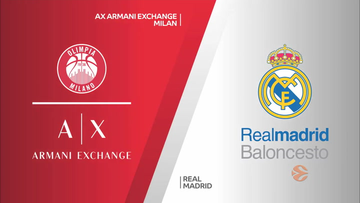Euroliga: AX Armani Exchange Milan - Real Madrid