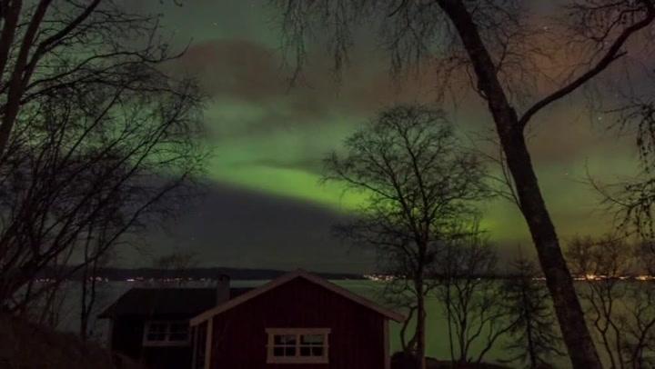 Mektig nordlys bergtok Trondheim