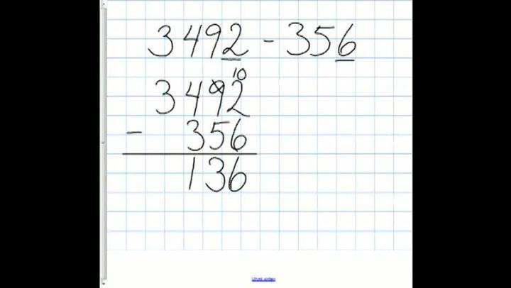 Matte: Hvordan få til subtraksjon av hele tall