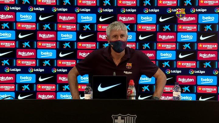 Rueda de prensa de Quique Setién previa al partido contra el Valladolid