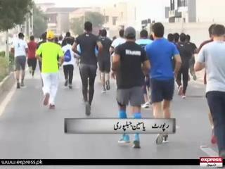 کراچی میں ہو نے والی منی میراتھن ریس