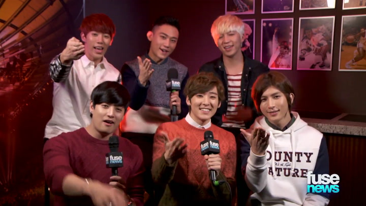 Shows: Fuse News: K-Pop Boy Band U-KISS Recall the Time a Fan Reached Down Their Pants