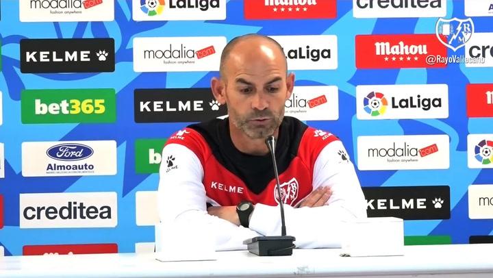 Rueda de prensa de Paco Jémez (Rayo) previa al partido contra el Valencia