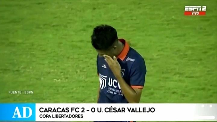 César Vallejo perdió de visita ante Caracas y fue eliminado de la Copa Libertadores