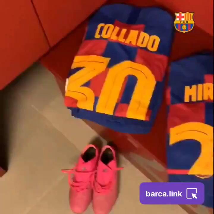 El vestuario del Barça, preparado para el Gamper