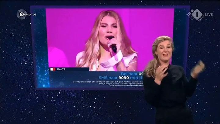 Los intérpretes de signos de la TV de Holanda para Eurovision lo dieron todo