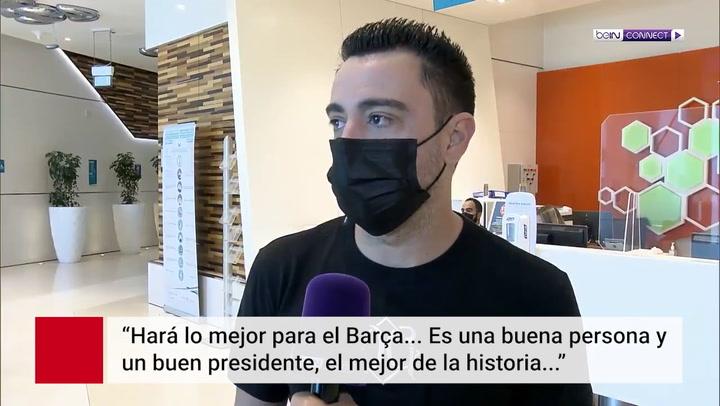"""Xavi rompe su silencio sobre Laporta: """"Puede resolver todos los problemas del Barça"""""""