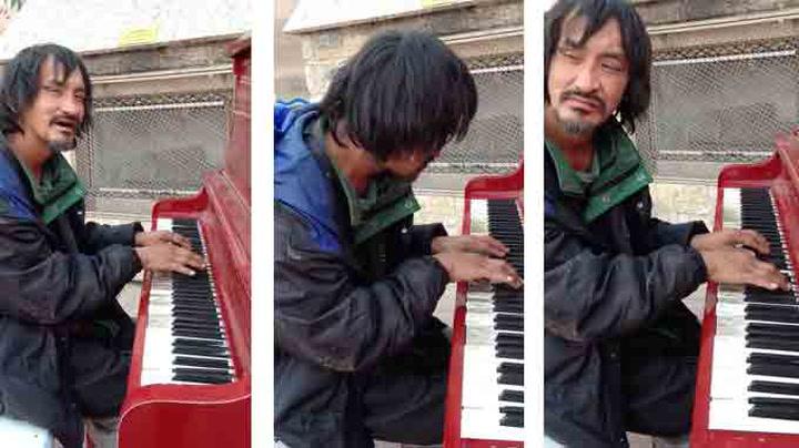 Uteliggeren Ryan forbauser med eget pianostykke