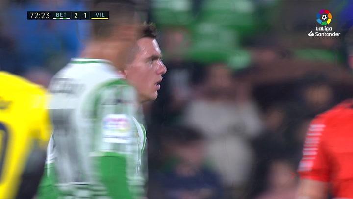 LaLiga: Betis - Villarreal. Giovani Lo Celso recibe una fuerte ovación del Benito Villamarín al ser sustituido