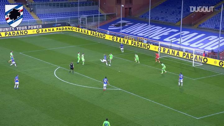 Mikkel Damsgaard's first Sampdoria goal