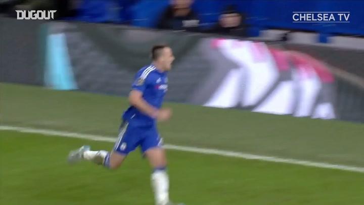 John Terry's dramatic late equaliser against Everton