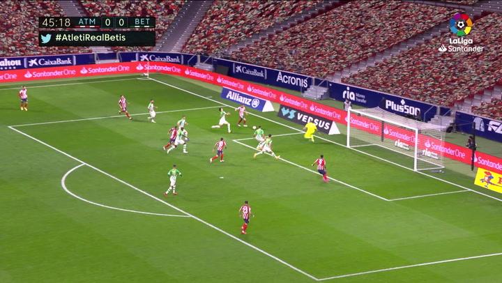 Gol de Marcos Llorente (1-0) en el Atlético de Madrid 2-0 Betis