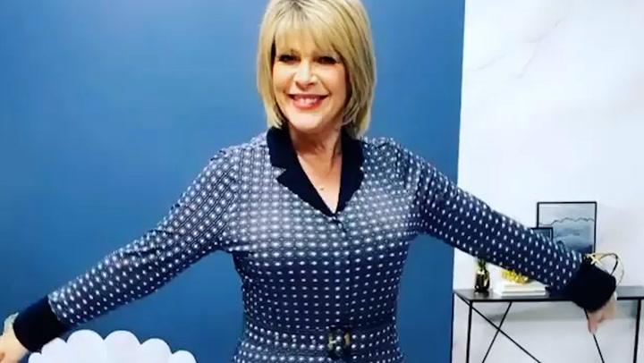 Ruth Langsford does a twirl in gorgeous QVC dress