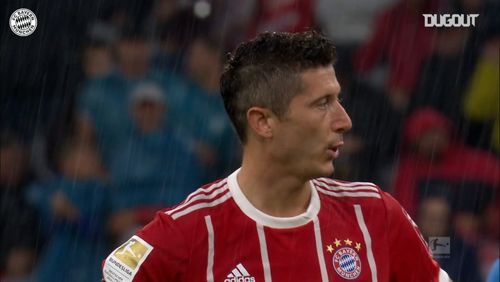 Robert Lewandowski's goals vs Bayer Leverkusen
