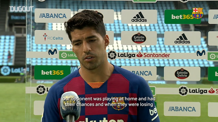 Luis Suárez: 'We had the game under control'