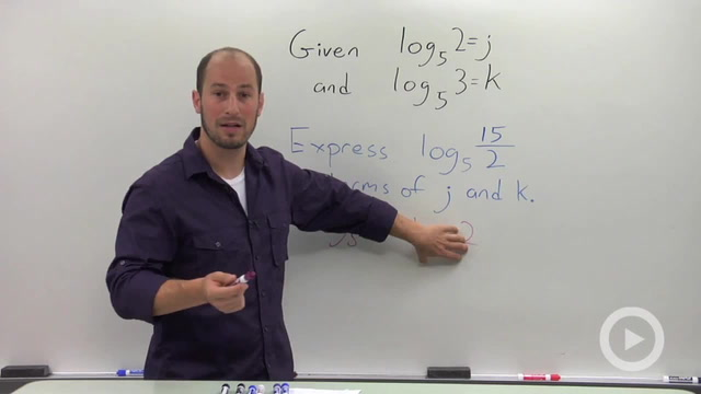 Evaluating a Logarithmic Expression in terms of Known Quantities - Problem 3