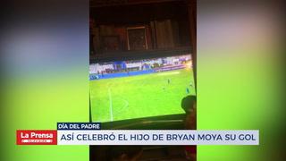 Así celebró el hijo de Bryan Moya su gol