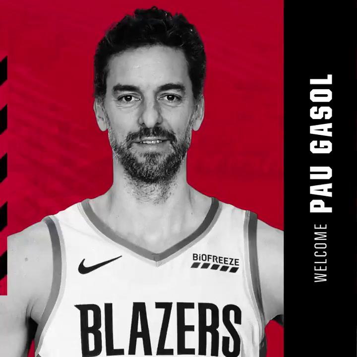 Pau Gasol, nuevo jugador de los Portland Trail Blazers