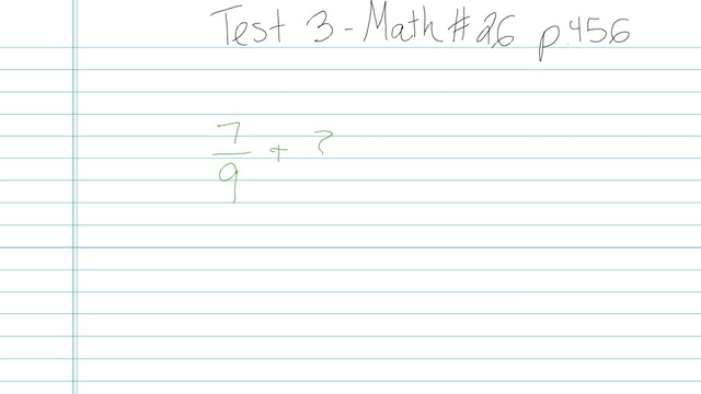 Test 3 - Math - Question 26