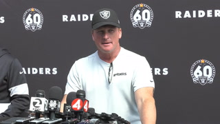Jon Gruden and Derek Carr discuss Raiders' upcoming challenge against Minnesota – FULL PRESSER – VIDEO