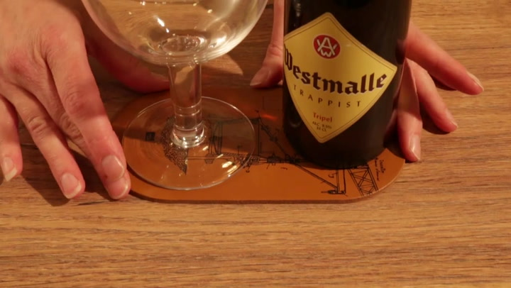 Preview image of Vacu Vin Beer Bottle & Glass Double Coasters, Set  video