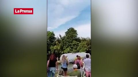 Hombre vive momentos de terror tras de romperse su cuerda en un salto de bungee jumping