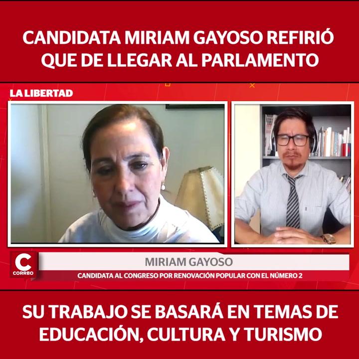 """Miriam Gayoso, candidata al Congreso: """"Buscaremos promocionar el turismo interno"""""""