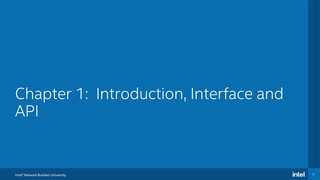 Chapter 1: Introduction, Interface, and API