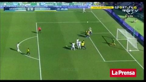 Argentina le propinó tremenda paliza a Ecuador en partido amistoso