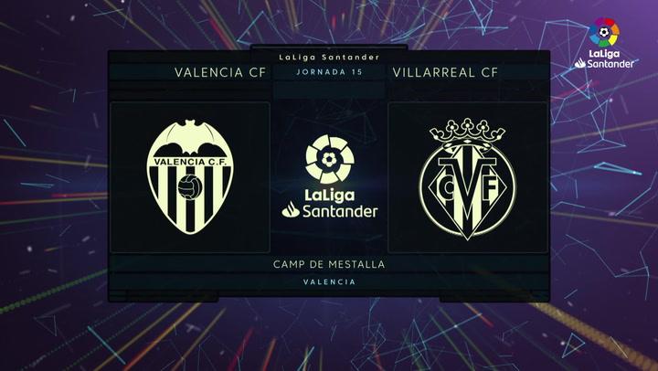 LaLiga (J15): Resumen y goles del Valencia 2-1 Villarreal