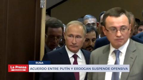 Acuerdo entre Putín y Erdogan suspende ofensiva