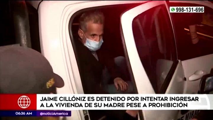 Jaime Cillóniz fue detenido otra vez por violar orden de alejarse de su madre