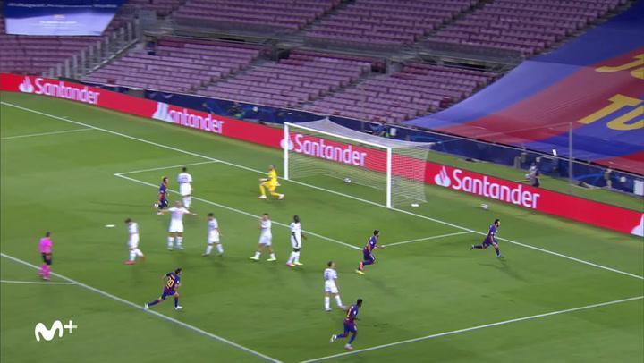 Champions League: Barça - Nápoles. Gol de Messi (2-0)