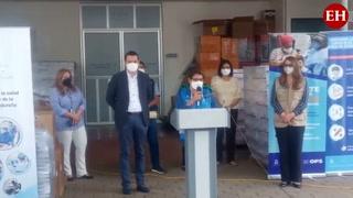Llega lote con 42,120 vacunas Pfizer al Almacén Nacional de Biologicos del PAI