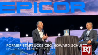 Former Starbucks CEO Howard Schultz at Las Vegas convention
