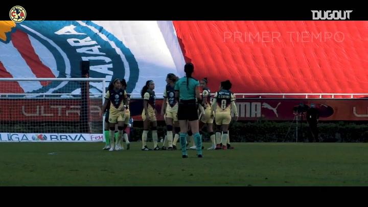 El empate del América Femenil ante Chivas, desde a pie de campo