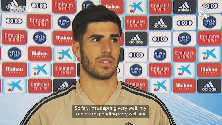 "Asensio: ""I feel very good and the knee is responding well"""