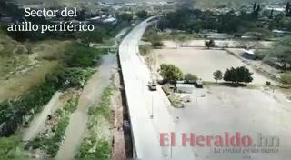 Paseo aéreo por la vía rápida del río Choluteca (Tegucigalpa)