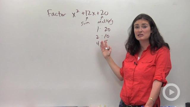 Factoring Trinomials, a = 1 - Problem 1