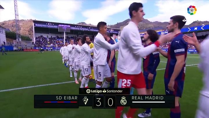LaLiga: Resumen y Goles del Partido Eibar (3) - (0) Real Madrid del 24/11/2018