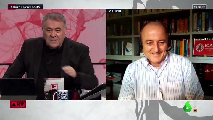 Ferreras responde en directo a las críticas tras el positivo por covid de Florentino Pérez