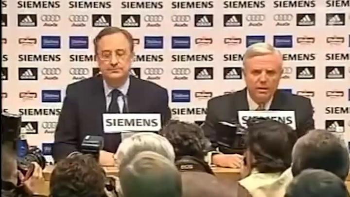 Florentino Pérez dimitió en 2006 como presidente del Real Madrid