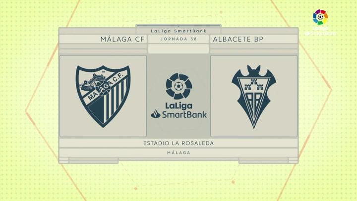 LaLiga SmartBank (J38): Resumen del Málaga 0-0 Albacete