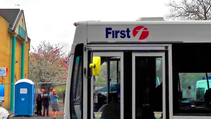 Bussjåføren ødelegger alt for fotografen