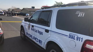 North Las Vegas police are investigating a triple shooting that left one man dead
