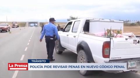 Policía piden revisar penas en nuevo código penal