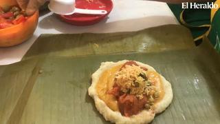 Así se prepara un delicioso nacatamal hondureño