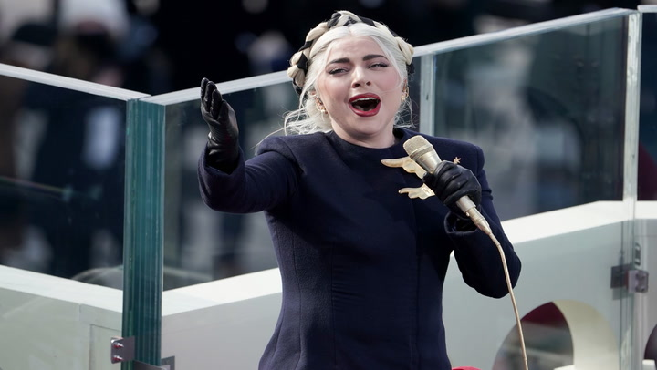 Estados Unidos: Lady Gaga canta himno en toma de mando de Joe Biden